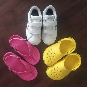 Toddler Girl Adidas and Crocs